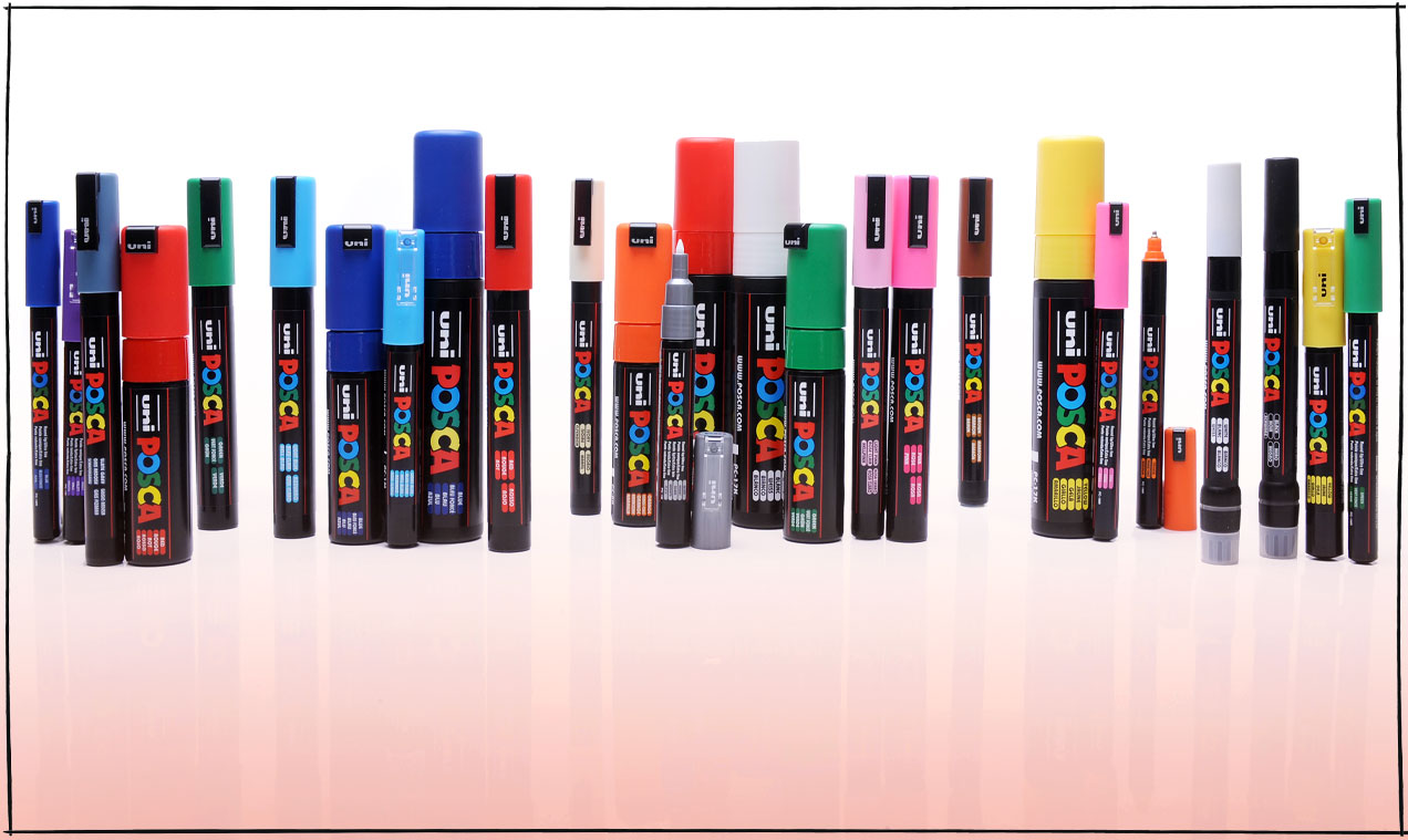 POSCA Paint Markers are Ideal Creative Tools