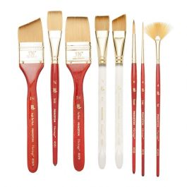 Princeton Series 4050 Synthetic Sable Watercolor Brushes 2//0 short handle round