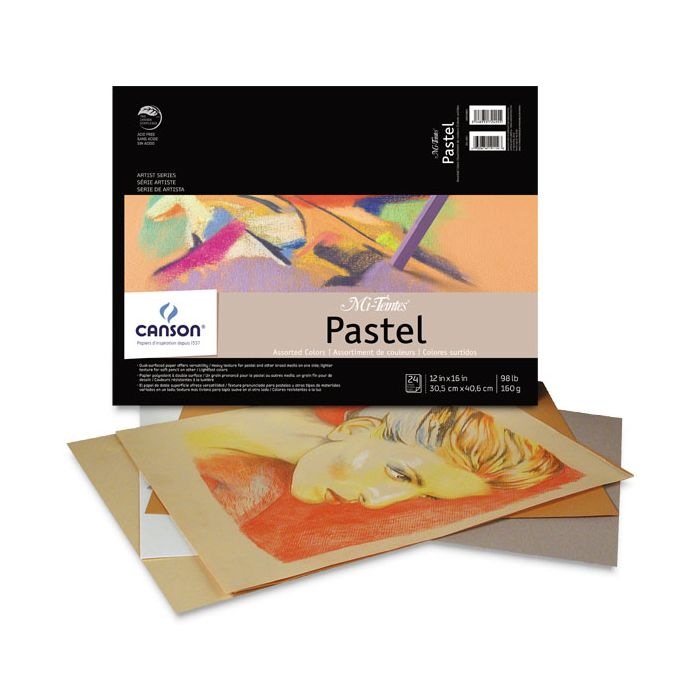 White Dry Pastel 30 Sheets MUNGYO Professional Pastel Paper Pad A4 Size for Oil Pastel