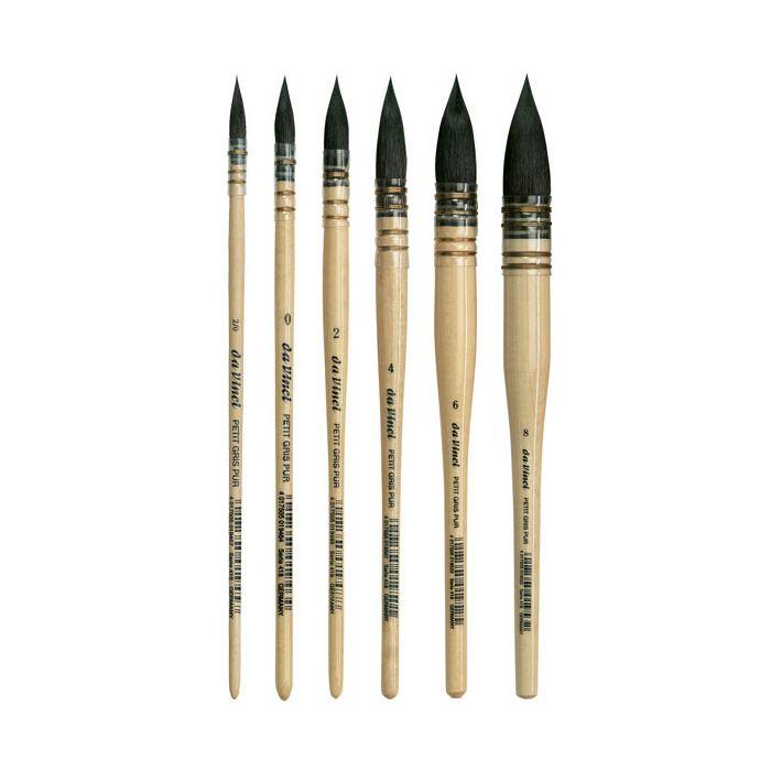 Da Vinci 4 différents petit gris pur pinstriping Pinceau