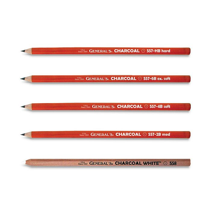 General Pencil Charcoal White Pencils