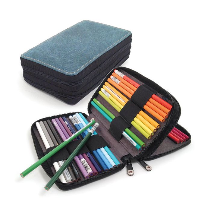 Leather Pencil Case Gift ideas. Pencil holder Zipper Pencil Case Small Pencil pouch