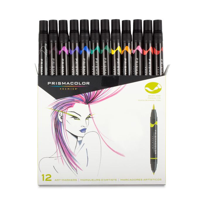 Prismacolor Premier Double Ended Brush Tip Marker Sets
