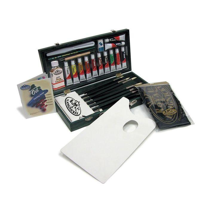 Royal /& Langnickel Black Series Art Drawing Wooden Box Set 2 Level.