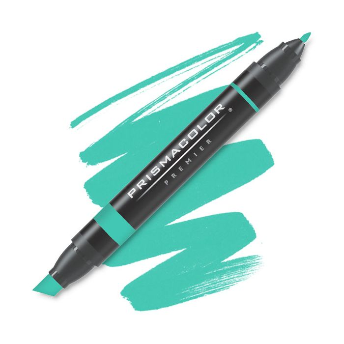 Prismacolor Premier Chisel Fine Double Ended Art Marker Aquamarine