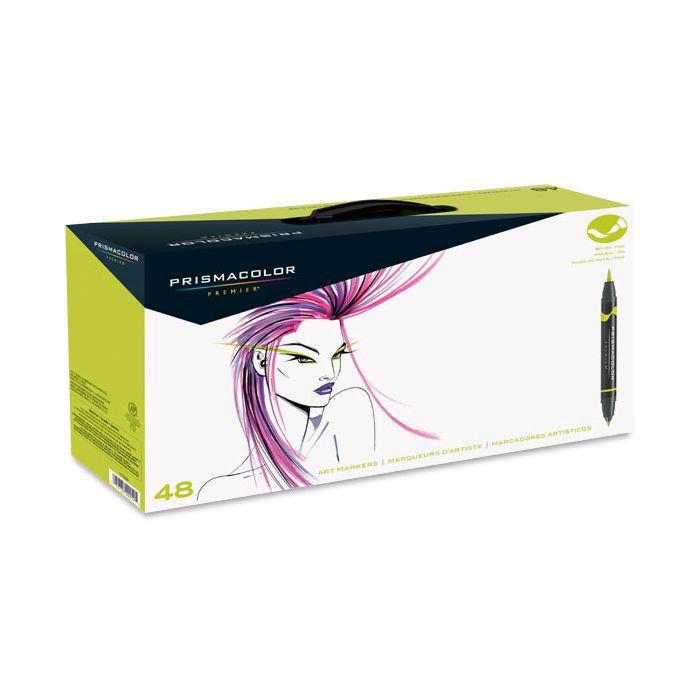 Prismacolor Premier Double Ended Brush Tip Marker Set Of 48 Assorted Colors