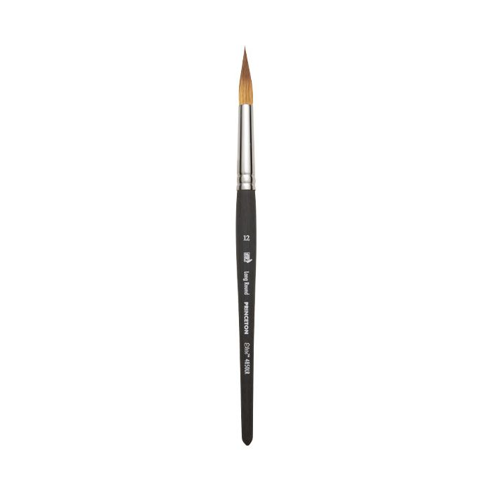 Good White Synthetic Hair Watercolour and Acrylic Brush Round 0 Princeton