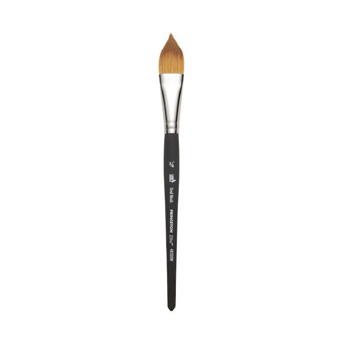 Princeton Artist Brush Select Synthetic Brush Oval Wash 3//4 Width