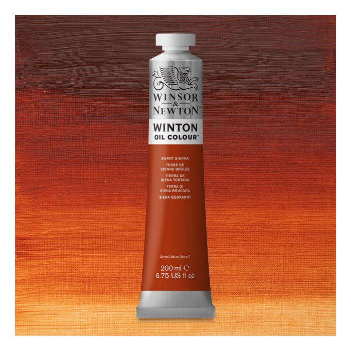 What Color Is Sienna >> Winsor Newton Winton Oil Color Burnt Sienna 200 Ml