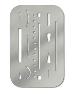 Steel Erasing Shield, 26 Openings