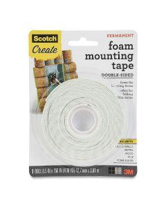 "Double Sided Foam Mounting Tape, 1/2"" x 150"""