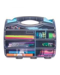 Double-Sided Quick-View Carrying Case with Removable Dividers (Art Supplies Not Included)