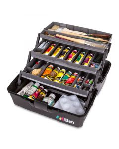 3-Tray Art Supply Box, Open (Art Supplies Not Included)