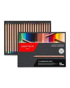 Luminance Colored Pencils - Portrait Colors, Set of 20