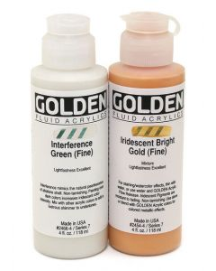 Golden Interference and Iridescent Fluid Acrylics