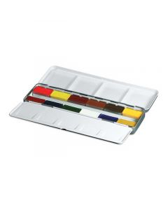 Watercolor Mixing Set In Travel Tin (open)