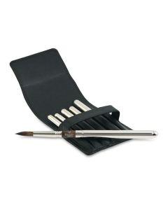 Versatil Synthetic Kolinsky Round Travel 6 Brush Set