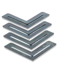 Aluminum Corner L-Bracket Set, Pkg of 4