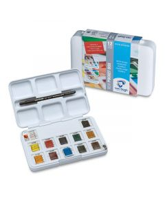 Assorted Colors Watercolor Set of 12 Pans