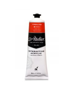 Atelier Interactive Acrylic Pyrrole Red, 80 ml. tube