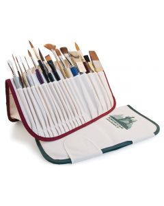 Canvas Brush Holders, Burgundy and Green (Brushes sold separately)
