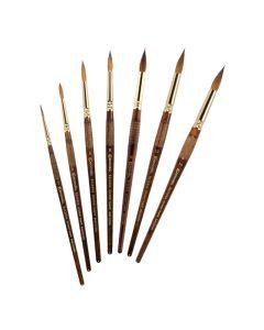 Kolinsky-Tajmyr Sable Pointed Round Brushes
