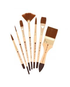 Golden Fleece Synthetic Watercolor Brushes