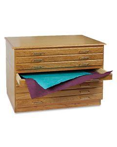 Oak Flat Files, 8 Drawer