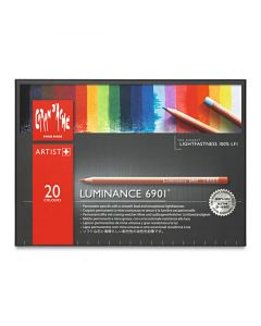 Luminance Colored Pencils, Assorted Colors, Set of 20