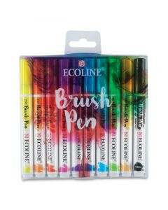 Brush Pens, Assorted Colors Set of 10