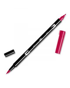 Dual Brush Pen, Crimson