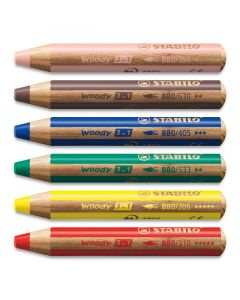 Woody 3 in 1 Colored Pencils - Set of 6