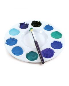 Round 10-Well Tray (paint not included)