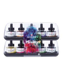 Ecoline Liquid Watercolors, Mixing Set of 10