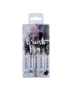 Watercolor Brush Pens, Grey Hues Set of 5