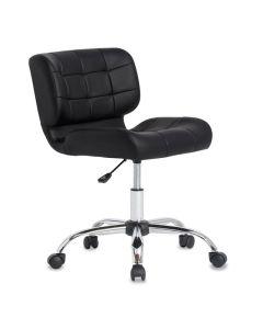 Crest Desk Chair, Black & Chrome