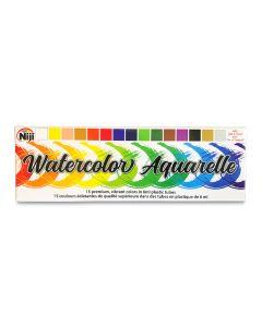 Niji Watercolor Tube Set, 15 Assorted Colors