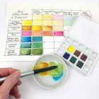 Watercolor Half-Pans, Floral Set of 6 in Use