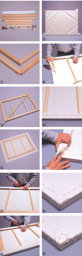 Artist Tip 7 Stretching Canvas Onto A Frame From Fredrix