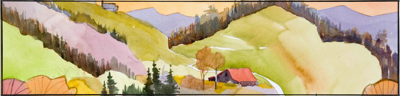 Mountain Landscape by Joe Miller