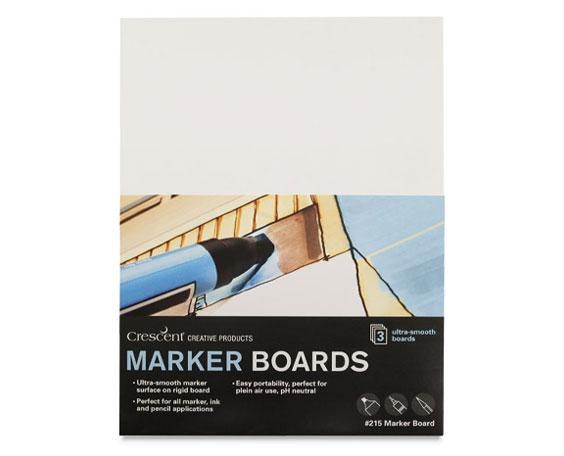 """5"""" x 7"""" Crescent No. 215 Marker Illustration Board 3-Pack Sample"""
