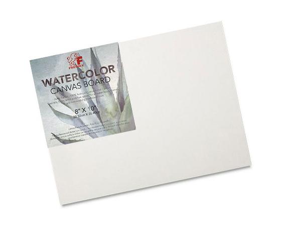 """8"""" x 10"""" Fredrix Archival Watercolor Canvas Board"""