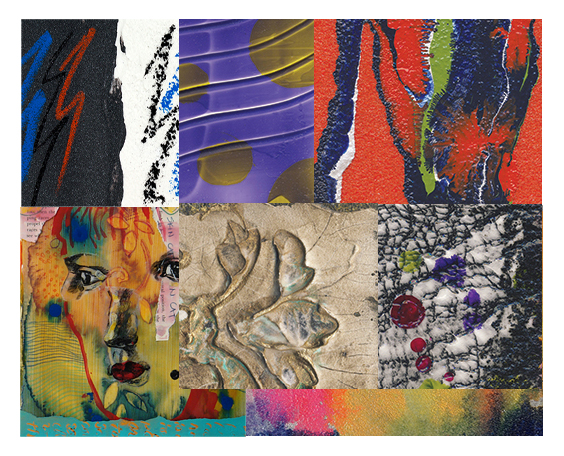 Examples of Golden Acrylic Mixed Media Products in Use