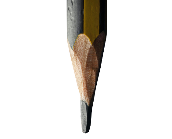 Point of a Graphite Pencil