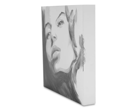 "Painting on 8"" x 8"" Joe Miller Signature Series Gessoed Painting Panel"