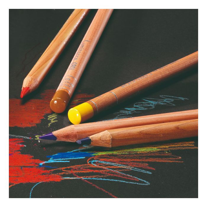 Glamour image of several Caran d'Ache Luminance Colored Pencils