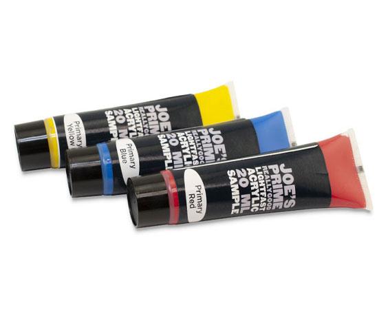 3 Tubes of Joe's Prime Acrylic Sample Paints
