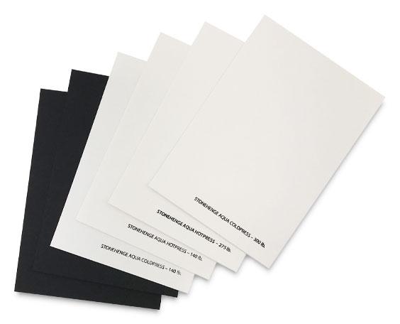 Stonehenge Aqua Watercolor Paper Sampler Pack